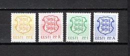 Estonia   1992  .-  Y&T  Nº    190/193 - Estonia