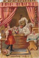 Chromos : Gaufré - Chocolat Poulain :  Le Petit Chaperon Rouge - Sa Surprise - N° 8 - Poulain