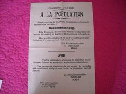Affiche Authentique Communale émanant Autorités Allemandes ( Maladies Vénériennes) - 1939-45