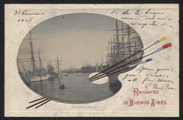 ARGENTINA - Bueons Aires, Riachuelo / Boca, 1906. - Vintage POSTCARD - (APAT4-26) - Argentinien