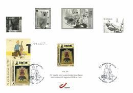 Belgium 2016 Mi. 4677 On Black And White Sheetlet BPost FD Cancellation Genk 20-Aug-2016, 70 Year Weekly Magazine Tintin - Black-and-white Panes