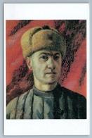 SELF PORTRAIT Of Russian Artist In Hat Ushanka & Quilted Jacket Russian Postcard - Illustrators & Photographers