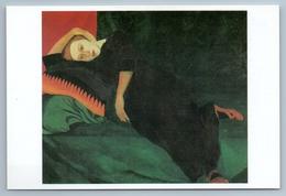 WOMAN On Sofa Self-Portrait Symbolism By Lermontova Rare Russia Postcard - Illustrators & Photographers