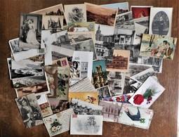 Lot De 50 Cartes Postales Anciennes 1900 - 1930 Environ, Tous Sujets (villes, Monuments, Fêtes & Voeux ...) - 5 - 99 Postcards