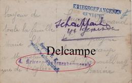 CP Photo : Souvenir De Famille PG Du Camp De Hammelburg ,( Bavière ) - Cachet  Rare - Guerre, Militaire