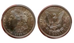 ÉTATS-UNIS D'AMÉRIQUE 1 Dollar Type Morgan 1921 Philadelphie - Bondsuitgaven