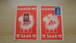 Saar Nr. 317 U. 341 - Saarmesse - 5 - 99 Postales