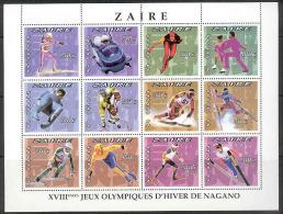 Olympic Games Nagano 1996 COB BL96 MNH - Zaire