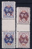 Lietuva Mittel Litauen Mi 25 K + 26 K Kehrdruckparen  Postfrisch/neuf Sans Charniere /MNH/** - Litauen