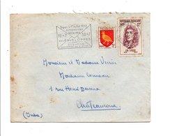 AFFRANCHISSEMENT COMPOSE SUR LETTRE DE LIMOGES 1956 - Postmark Collection (Covers)