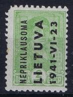 Deutsche Bezetzung  Litauen Mi 1 Postfrisch/neuf Sans Charniere /MNH/** Spots - Litauen