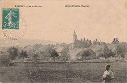 70 ARBECEY Vers Vesoul Vue Générale Homme En Premier Plan Edition Delestre Maugras Envoyée Par Ernestine Métais En 1910 - Vesoul
