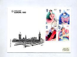 Lettre Fdc 1982 Europa - FDC