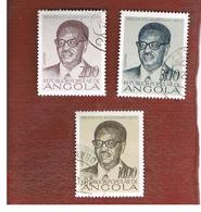 ANGOLA  -  SG 736.738     - 1976  1ST ANNIVERSARY OF INDEPENDENCE: PRESIDENT A. NETO  -  USED - Angola