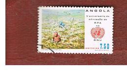ANGOLA  -  SG 795     - 1982  ADMISSION TO  O.N.U. ANNIVERSARY   -  USED - Angola