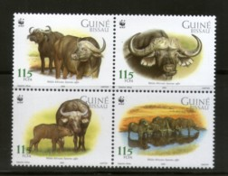 Guinea Bissau 2002 WWF African Buffalo Wildlife Animal Fauna MNH # 304 - W.W.F.