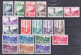 Andorre 138 153 Paysages Série Complète Neuve * * TB  MNH Sincharnela Cote 250 - Nuovi