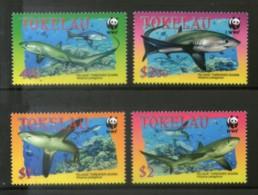 Tokelau 2002 WWF Pelagic Thresher Shark Marine Life Fish Sc 308-11 Fauna MNH 308 - W.W.F.