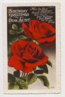 AI76 Greetings - Birthday Greetings, Aunt, Red Roses - Birthday