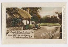 AI76 Greetings - Happy Birthday, Cottage, Village Green - Birthday
