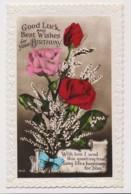 AI76 Greetings - Birthday Greetings, Flower Arrangement With Ribbon - Birthday