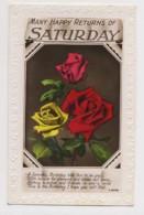 AI76 Greetings - Many Happy Returns, Saturday, Flowers - Birthday