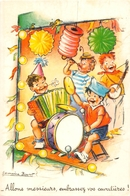 "¤¤   -  Illustrateur "" Germaine BOURET "" - Carte Moderne Retirée - Fanfare , Musique, Lampion   -  ¤¤ - Bouret, Germaine"