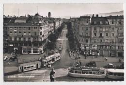 AI86 Zurich, Bahnhofstrasse - Busy Street Scene, Trams, Cars, Shops, RPPC - ZH Zurich