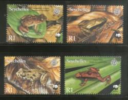 Seychelles 2003 WWF Frogs Amphibians Wildlife Animal Sc 831-34 MNH # 321 - W.W.F.