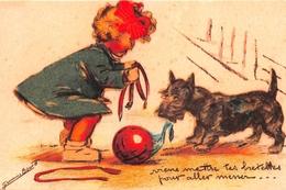 "¤¤   -  Illustrateur "" Germaine BOURET "" - Carte Moderne Retirée - Chien   -  ¤¤ - Bouret, Germaine"