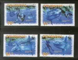 Penrhyn 2003 WWF Ocean Sunfish Marine Life Fish Sc 462-65 Fauna MNH # 322 - W.W.F.