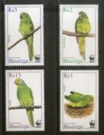 Mauritius 2003 WWF Parakeet Parrot Birds Wildlife Animals Sc 966-69 MNH # 323 - W.W.F.