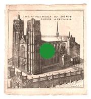GRAVURE  De Devel  Eglise Collégiale De Ste GUDULE BRUXELLES  Gravure Originale Vers 1750  RARE - Documents Historiques