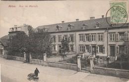 Belgique Luxembourg Arlon Rue De Mersch Voiture à Chien Ou Attelage De Chien En 1909 - Arlon