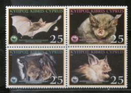 Cyprus 2003 WWF Mediterranean Horseshoe Bat Wildlife Animals Sc 1006 MNH # 325 - W.W.F.