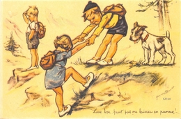 """¤¤   -  Illustrateur """" Germaine BOURET """" - Carte Moderne Retirée - Chien , Randonneurs   -  ¤¤ - Bouret, Germaine"""