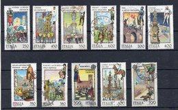 Italia - Repubblica - Anni Vari - Lotto 11 Francobolli Folklore - Usati - Vedi Foto - (FDC16412) - Lotti E Collezioni