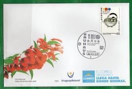 """1683a URUGUAY 2019-En FDC  """"100 Años De La Bauhaus""""TT: Aniversarios,Diseños - Uruguay"""