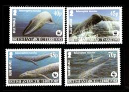 British Antarctic Territory 2003 WWF Blue Whale Fish Marine Life Sc 326 MNH 334 - W.W.F.