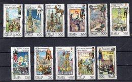 Italia - Repubblica - Anni Vari - Lotto 11 Francobolli Folklore - Usati - Vedi Foto - (FDC16413) - Lotti E Collezioni