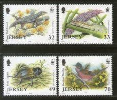 Jersey 2004 WWF Wildlife Animals Bird Insect Reptiles Lizard Sc 1134-7 MNH 345 - W.W.F.