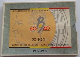 20 Ecu, Koninkrijk België, Boudewijn, 1930-1990, Goud-zilver - 1951-1993: Baudouin I