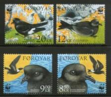 Faroe Islands 2005 WWF Petrels Birds Wildlife Animals Fauna Sc 458-61 MNH # 365 - W.W.F.