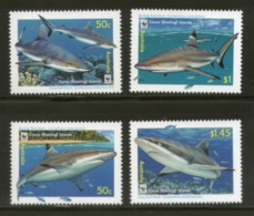 Cocos Keeling Islands 2005 WWF Sharks Fish Marine Life Animal Sc 341-3 MNH # 367 - W.W.F.