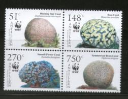 Netherlands Antilles 1994 WWF Caribbean Corals Marine Life Sc 1071 MNH # 373 - W.W.F.