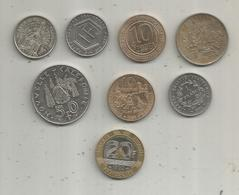 Monnaie , France Et Nouvelle Calédonie ,  2 Scans ,  LOT DE 8 MONNAIES - Vrac - Monnaies