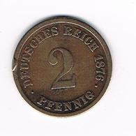 // DEUTSCHES REICH  2 PFENNIG  1876 D - 2 Pfennig