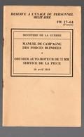 (militaria) Plaquette Forces Blindées / Obusier De 75mm   (PPP19507) - Documents