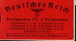 Markenheftchen 39.5 Hindenburg */**  MNH / MLH (1) - Markenheftchen