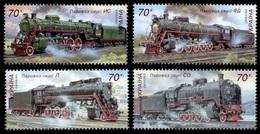 2006Ukraine808-811Locomotives - Treni